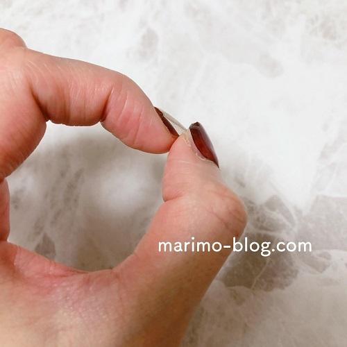 zinipin(ジニピン)のセルフジェルの持ち:一度空気が入ると簡単に剥がれる