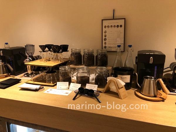 梅小路ポテル京都宿泊記:フリードリンクコーナーのコーヒーは豆から挽くタイプ