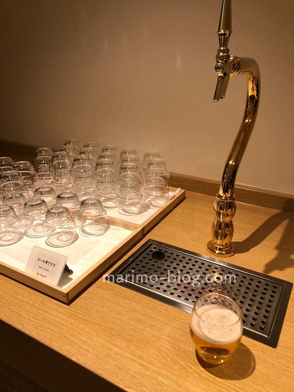 梅小路ポテル京都宿泊記:フリードリンクコーナーのビールサーバー