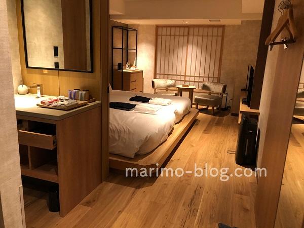 梅小路ポテル京都宿泊記:ウッドフラットツインのお部屋