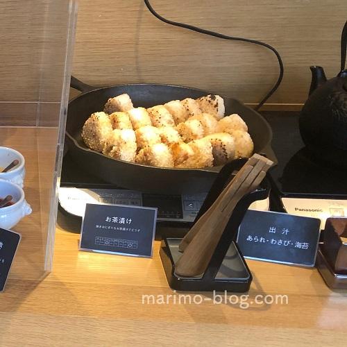 梅小路ポテル京都宿泊記:朝食(焼きおにぎり)
