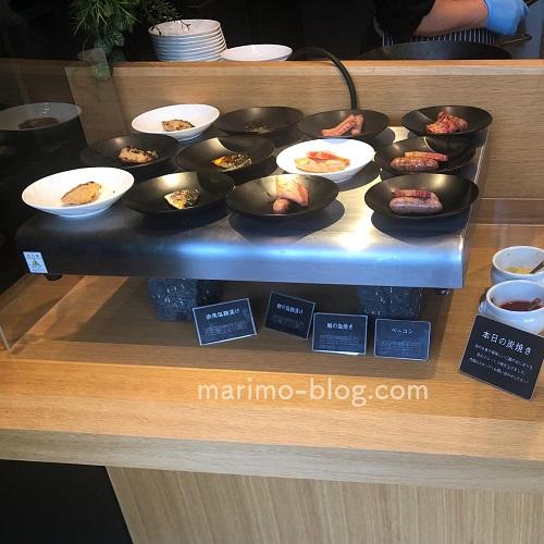 梅小路ポテル京都宿泊記:朝食(炭焼き)