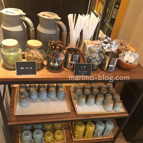 梅小路ポテル京都宿泊記:朝食(ドリンクバー・お茶)