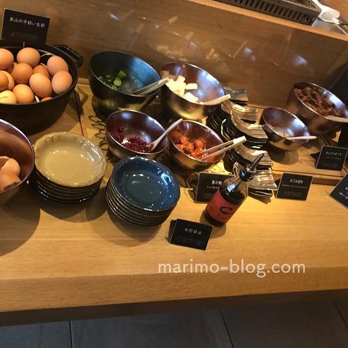 梅小路ポテル京都宿泊記:朝食(ご飯のお供)
