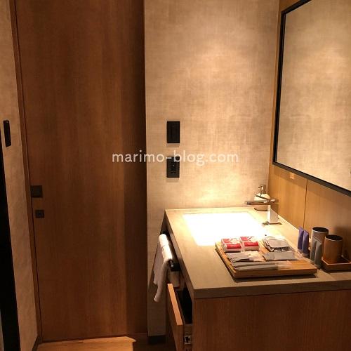 【宿泊記】梅小路ポテル京都のお部屋(ウッドフラットツイン):洗面台